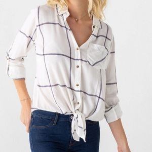 Thread & Supply Daley button down tie front shirt